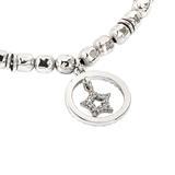 Bracciale beads con stella zirconata