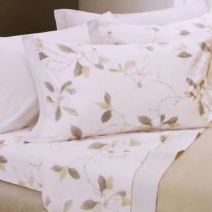 Set lenzuola invernali matrimoniale 2 piazze caldo cotone Chamonix floreale beige