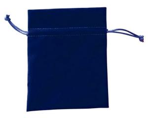 Busta velluto blu