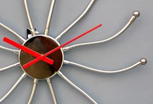 Orologio da parete effetto acciaio modellabile,  Formato diametro cm 50