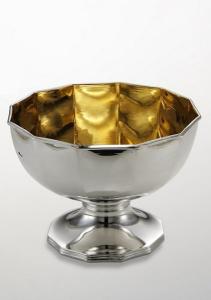 Alzata dodecagonale stile ottagonale interno oro argentato argento sheffield