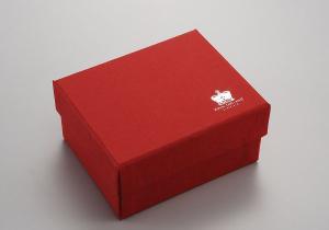 Scatola rossa cm.12x12x13h
