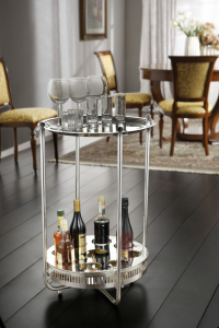 Tavolino tondo argentato argento sheffield cm.80h diam.54