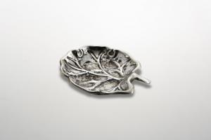 Foglia vite stile cesellato argentato argento sheffield cm.4x3,5