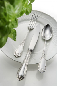 Servizio 77 pz in alpacca stile Floreale epns argentato argento