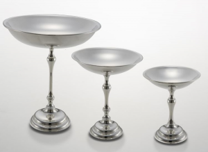 Alzata tonda liscia stile Cardinale argentato argento sheffield cm.20h diam.16,5