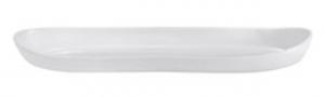 Vassoio in porcellana a forma di canoa cm.52x13,5x4h