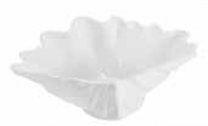 Piatto quadrato ciotola in porcellana bianca a forma di conchiglia cm.33xx9h