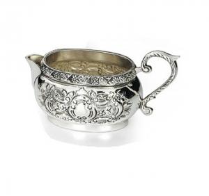 Lattiera argentato argento sheffield stile cesellato