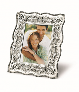 Cornice portafoto argentato argento sheffield stile cesellato cm.20x15