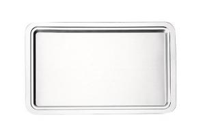 Vassoio rettangolare gastronorm in acciaio cm.53x32,5