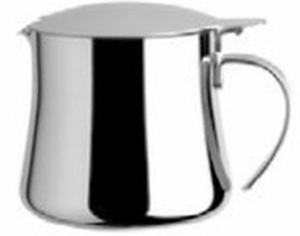 Teiera 6 tazze 90 cl in acciaio argentato argento sheffield cm.11,1h diam.9,5