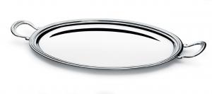 Vassoio ovale con manici stile Inglese argentato argento sheffield cm.35x25