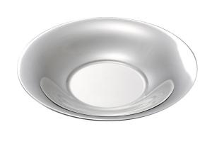 Cestino tondo pane liscio argentato argento stile Cardinale cm.4h diam.26