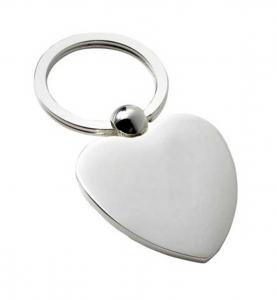 Portachiavi cuore silver plated cm.7,7x4x3h