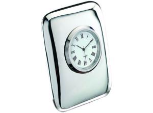 Orologio da tavolo in silver plated cm.2x2,5x5,5h