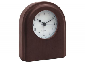 Sveglia in legno di noce cm.10x3,7x12,4h