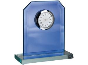 Orologio specchio vetro blu cm.10,5x4x10,5h