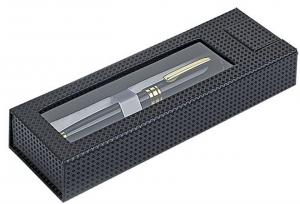 scatola per penna nera con finestra senza penna cm.17,7x6x3h