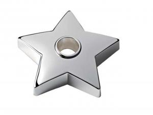 Ten Portacandela Argentato Argento Silver Plated cod.EL226 cm 17,5h diam.6 by Varotto /& Co.