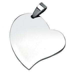 Pendente cuore acciaio cm.2,5x2,5x0,2h