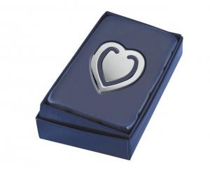 Segnalibro cuore silver plated cm.4,7x4x0,2h