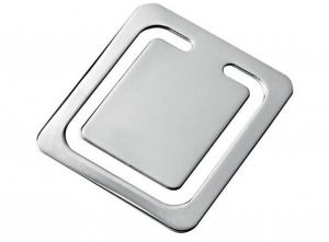 Segnalibro quadrato cm.4,2x3,8x0,2h