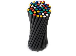Tubo pvc con matite cristallo colorato confezione 50 pezzi cm.18x0,73x0,73h diam.6,5