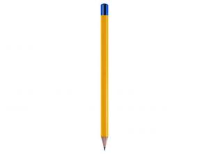 Matitone giallo con cappuccio blu cm.24x1,2x1,2h