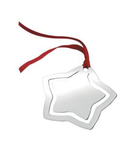 Stella di Natale in silver plated cm.8,2x7,2x0,2h