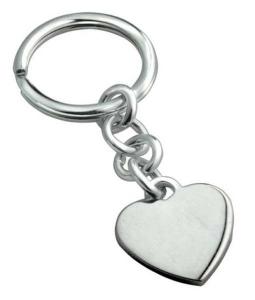 Portachiavi cuore in argento 925