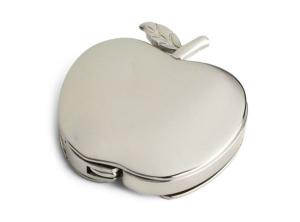 Portaborsetta mela cromata cm.1h diam.4,5