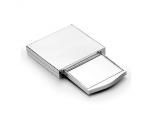 Specchietto a scomparsa in silver plated cm.5,6x6x2h