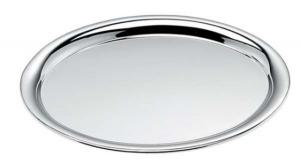 Vassoio ovale cromato cm.28,7x22x1,5h