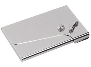 Portabiglietti da vista calcio in silver plated cm.6,2x9,5x2h