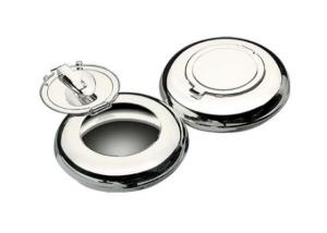 Posacenere tascabile in silver plated cm.2h diam.6