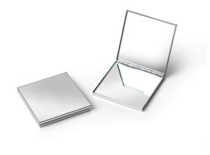 Specchietto quadrato cromato cm.6x6x1,5h