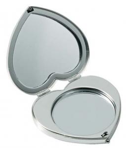 Specchietto cuore doppio cm.6,5x6,5x1,5h