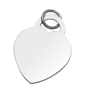 Piastrina charms cuore cm.3x3,5x0,2h
