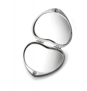 Specchietto da borsa cuore amore cm.5,5x5,5x2h