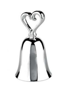 Campanella cuore cm.3,9x3,9x7,2h