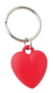 Portachiavi cuore rosso amore cm.6,5x3x1h
