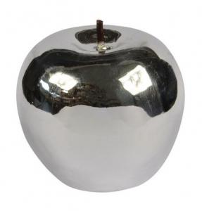Candela MELA color Argento lucida cm.5,5h diam.6