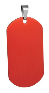 Targhetta marines alluminio rosso cm.5x3x0,3h