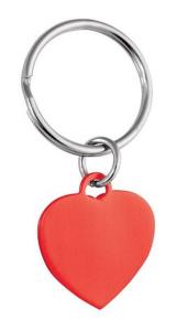 Pendente cuore rosso cm.5,2x2,5x0,5h