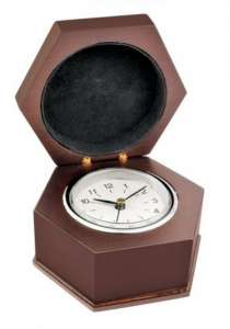 Orologio ottagonale legno cm.9,5x8x5,2h