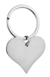 Portachiavi cuore singolo cm.7x4,2x0,5h