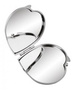 Specchietto cuore in metallo cm.7x6,8x0,8h