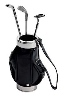 Portapenne sacca da golf con penne cm.12x8x3h