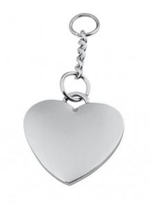 Piastrina cuore con catenella cm.5x2,9x0,2h